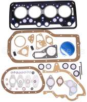 P 404/504/505/J5, engine gasket set. Suitable for Peugeot 404, 504, 505, J5, J7, J9. Petrol engines 1.6 + 1,8L (XM7, XM7A, XC7, XC7P, XM, XM7P). 86 mm  bore. Inclusive Cylinder head gasket. Original supplier! Delivery without liners sealing rings! - 71047 - Der Franzose