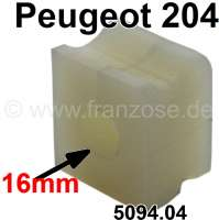 P 204, anti roll bar (torsion bar) rubber. Diameter: 16mm. Suitable for Peugeot 204. Or. No. 5094.04 - 73624 - Der Franzose