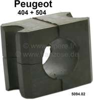 P 404/504, anti roll bar rubber, for 22mm anti roll bar. Suitable for Peugeot 404 + 504. Or. No. 5094.02 - 74237 - Der Franzose