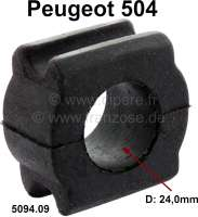 P 504, anti roll bar rubber bearing. For anti roll bar diameter: 24,0mm. Suitable for Peugeot 504. Or. No. 5094.09 - 73134 - Der Franzose