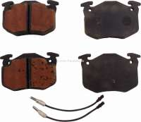 brake pads, front, Peugeot 504,505,604, System Bendix, 105mm wide, 65mm high, 18mm thick, Or.no.: 425021 - 74527 - Der Franzose
