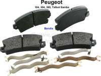 Brake pads reproduction, Peugeot 104, 304, 305, Talbot Samba. System Bendix, 108,9mm wide, 49mm highly, 14mm heavily. - 74575 - Der Franzose