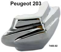 P 203, chrome clip (MOTIF) for the bumper (per piece). Suitable for Peugeot 203, 1 series. Or. No. 7450.02 - 76850 - Der Franzose