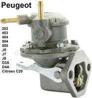 Gasoline pump Peugeot with hand lever! Completely made from metal. Suitable for Peugeot 203, 403, 404, 504, 505 GL/GR/SR, D3A, D4A, J5, J7, J9, Jeep P4, Citroen C25. - 72906 - Der Franzose
