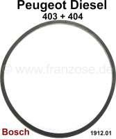P 403/404, seal Dieselfilter Bosch. Dimension: 75x83x3mm. Suitable for Peugeot 403 Diesel + 404 Diesel. Or. No. 1912.01 | 71366 | Der Franzose - www.franzose.de