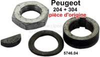 P 204/304, V-belt pulley mounting kit, for direct current generator. Suitable for Peugeot 204 + 304. Or. No. 5746.04 - 73641 - Der Franzose