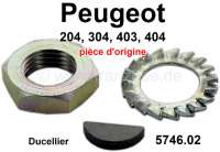 P 204/304/403/404, V-belt pulley mounting kit, for Ducellier generator. Suitable for Peugeot 204 + 304, 403, 404. Or. No. 5746.02 - 73642 - Der Franzose