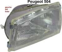 headlamp front left side Peugeot 504, Bilux - 75074 - Der Franzose