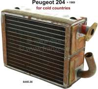 P 204, heater radiator (original Chausson). Suitable for Peugeot 204, to year of construction 1969. Scandinavia version (for cold countries). Or. No. 644826. New old stock (NOS). - 72391 - Der Franzose
