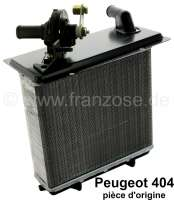 P 404, heater radiator with heater valve. Suitable for Peugeot 404. Dimension: 147 x 180 x 42mm. Or. No. 6448.34. Original Peugeot, no reproduction (NOS). -1 - 72400 - Der Franzose