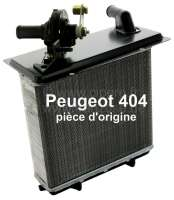 P 404, heater radiator with heater valve. Suitable for Peugeot 404. Dimension: 147 x 180 x 42mm. Or. No. 6448.34. Original Peugeot, no reproduction (NOS). - 72400 - Der Franzose