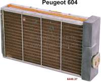 P 604, heater radiator (original Chausson). Suitable for Peugeot 604. Or. No. 644837. New old stock (NOS). - 72395 - Der Franzose