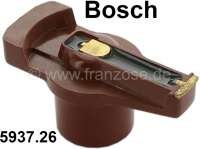 Bosch, distribution arm. Suitable for Peugeot 504 V6. Peugeot 604. Renault R30. Or. No. 593726. Rotor length over everything = 67 mm. Rotor high over everything = 33 mm. Shaft diameter = 14 mm. Setting up depth = 18 mm. - 72294 - Der Franzose