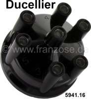 Ducellier, distributor cap V6. Suitable for Peugeot 504 V6 (Cabrio + Coupe), 604 V6. Renault R30. Or. No. 5941.16 - 72690 - Der Franzose