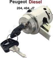 Starter lock Peugeot, suitable for 204 Diesel (starting from year of construction 1969), 404 Diesel (starting from year of construction 12/1969),  J7 Diesel (all years of construction). Original manufacturer Neiman. No reproduction. Neiman No. 0112401 - 77714 - Der Franzose
