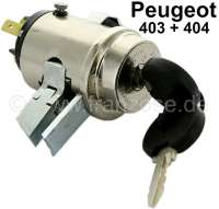 Starter lock (in the dashboard), suitable for Peugeot 403 + 404 (first version). 3x connection. Case diameter: 39mm. Lockbolt: 8x13 mm. Case high over everything: 64 mm (without cable connections) - 73139 - Der Franzose
