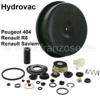 P 404, Hydrovac repair set for brake booster, inclusive large diaphragm. Suitable for Peugeot 404, Renault 8 + Renault Saviem. - 74169 - Der Franzose