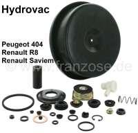 P 404, Hydrovac repair set for brake booster, inclusive large diaphragm. Suitable for Peugeot 404, Renault 8 + Renault Saviem. - 74169 - Der Franzose