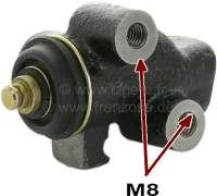 P 504, brake power controller. Suitable for Peugeot 504 Comerciale (delivery vans). 504 BREAK, Pick UP. Brake line connector: 2x M10x1. Fixing bolt: 2x M8. Or. No. 4861.14 -1 - 74644 - Der Franzose
