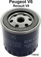 Oil filter LS410C. Suitable for Peugeot 504 V6 (Cabriolet + Coupe) + Peugeot 604 V6. Talbot Tagora. Or. No. 1109.82 - 71124 - Der Franzose
