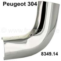P 304, chrome corner on the right above, rear window Peugeot 304. Original one, no reproduction. Or. No. 8349.14 - 77757 - Der Franzose