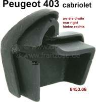 P 403, rubber seal corner at the rear right, for the hood. Suitable for Peugeot 403 Cabriolet. Or. No. 8453.06 - 77822 - Der Franzose