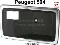 P 504, door handle case inside on the right. Suitable for Peugeot 504. Or. No. 9120.60. The door opener fits in front and rear. Per piece. - 77806 - Der Franzose