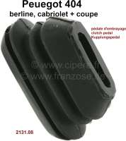 P 404, rubber seal for the clutch pedal in the engine front wall. Suitable for Peugeot 404. Or. No. 2131.08 - 77824 - Der Franzose