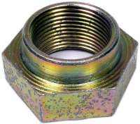 Hub nut rear, Peugeot 404, 505, 505, 604. Thread M25 x 1,5, width accross flats 36mm. Or.Nr. 331813 - 73542 - Der Franzose