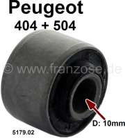P 404/504, bonded-rubber bushing for the anti roll bar ouple rod (rear axle). Suitable for Peugeot 404 + 504. Inside diameter: 10mm. Outside diameter: 27mm. Or. No. 5179.02 | 73640 | Der Franzose - www.franzose.de