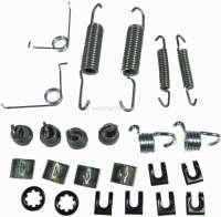 brake shoes assembly set, Peugeot 504 71>80 system Bendix, 254x45mm (springs-clips) - 74088 - Der Franzose