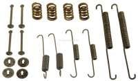 brake shoes assembly set, Peugeot 504 71>88 system Bendix, 255x47mm (springs-clips) - 74089 - Der Franzose