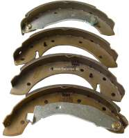 brake shoes set rear, Peugeot 204+304 system Lucas, diameter 254mm, breadth 57mm - 74098 - Der Franzose