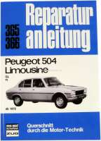 Language German! Workshop manual Peugeot 504 starting from 1972. Reproduction of the Bücheli publishing house! Strap 365. - 79005 - Der Franzose