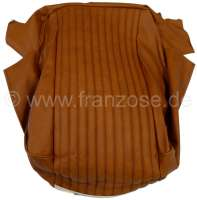 P 304, vinyl Ambre 3309. Seat in front on the left + on the right fitting, cushion cover. Peugeot 304. Or. No. 898076. Genuine leather! - 78594 - Der Franzose