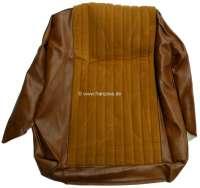 P 504, vinyl beige 3301 - material Pain doré 2175, seat cushion cover in front, Peugeot 504 sedan except BREAK.  Or.Nr.898015 - 78527 - Der Franzose
