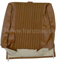 P 504, vinyl brown, centrically tubing Design.  Backrest cover in front (prepared for head rest). Suitable for Peugeot 504. Or. No. 894930 - 78646 - Der Franzose