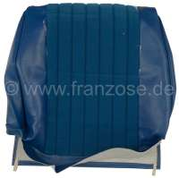 P 504, vinyl cyan. Backrest cover seat in front. Peugeot 504 sedan, exept  the USA. Or.Nr.898799 - 78613 - Der Franzose