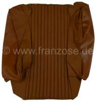 P 504, vinyls brown, centrically into narrow whistles reduced. Cushion cover in front. Suitable for Peugeot 504. Or. No. 899238 - 78643 - Der Franzose