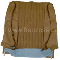 P 504, vinyls light brown, centrically in whistles reduced (perforates).  Backrest cover in front (prepared for head rest). Suitable for Peugeot 504. Or. No. 898644 - 78644 - Der Franzose