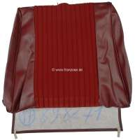 P 504, vinyl red-brown, centrically material dark red, backrest cover seat in front, Peugeot 504 sedan, Or.Nr.898271 - 78565 - Der Franzose