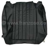 P 504, vinyl color code 3000 (black), backrest cover on the left, seat bench rear. Peugeot 504. Or. No. 899483 - 78620 - Der Franzose