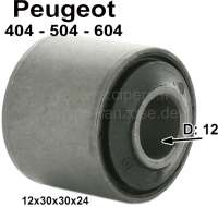 Bushing bumper rear for Peugeot 404 from 04/1963 to 12/1971. For 504 from 06/1968 to 02/1971 and for 604 from 09/1979 to 05/1983. Inside diameter: 12mm, outside diameter: 30mm, heigth: 24mm. - 73444 - Der Franzose