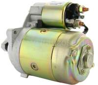 Starter motor (new part) suitable for Peugeot 404 petrol, starting from year of construction 1967. Peugeot 504 with 1,6L + 1,8L + 2,0L engine. Peugeot J7 petrol. 9 teeth.  Rotation in the clockwise direction. Mounting holes, center to center: 106mm. The starter motor is a new part. An old part return is not necessary! Or. No. 5802.82 -1 - 72110 - Der Franzose