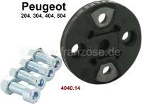 P 204/304/404/504, flexible disk steering column. Suitable for Peugeot 204, 304, 404, 504.  Pitch diameter: about 50mm. Or. No. 4040.14 - 73328 - Der Franzose
