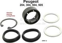P 204/304/504/505, bearing for the steeering rack (24mm diameter). Suitable for Peugeot 204 + 304 with gear rack length: 468mm. Peugeot 504 + 505 for steering unit without power steering. Or. No. 4006.14 - 73326 - Der Franzose