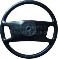 P 504, steering wheel (final Version?), complete synthetic black. Suitable for Peugeot 504. -1 - 73653 - Der Franzose