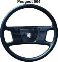 P 504, steering wheel (final Version?), complete synthetic black. Suitable for Peugeot 504. -2 - 73653 - Der Franzose