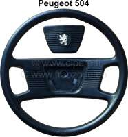 P 504, steering wheel (final Version?), complete synthetic black. Suitable for Peugeot 504. - 73653 - Der Franzose