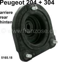P 204/304, spring plate, rear above. Mounting of the shock absorber. Suitable for Peugeot 304 sedan. Peugeot 204, starting from chassis number: 9.064.001. Or. No. 5165.18 - 73623 - Der Franzose